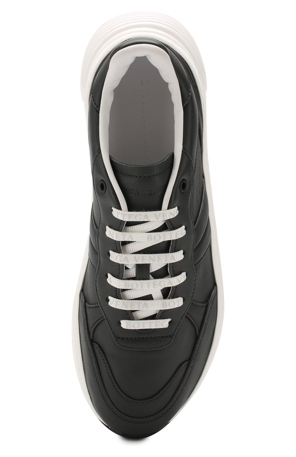 Мужские кожаные кроссовки BOTTEGA VENETA темно-серого цвета, арт. 565646/VT040 | Фото 5