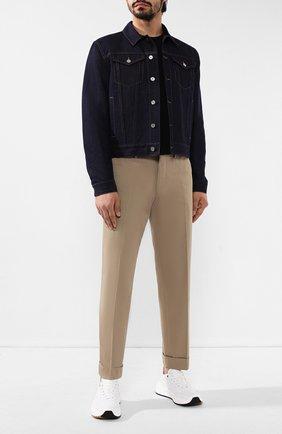 Мужские кожаные кроссовки BOTTEGA VENETA белого цвета, арт. 565646/VT040 | Фото 2