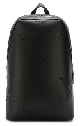Мужской кожаный рюкзак BOTTEGA VENETA черного цвета, арт. 580155/VBIU0 | Фото 1