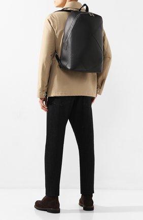 Мужской кожаный рюкзак BOTTEGA VENETA черного цвета, арт. 580155/VBIU0 | Фото 2