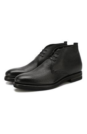 Мужские кожаные ботинки H`D`S`N BARACCO черного цвета, арт. 59533.1* | Фото 1