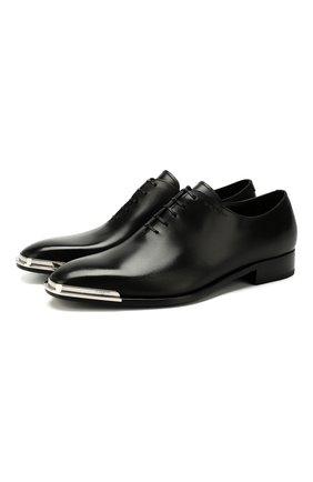 Мужские кожаные оксфорды GIVENCHY черного цвета, арт. BH101RH0JK | Фото 1