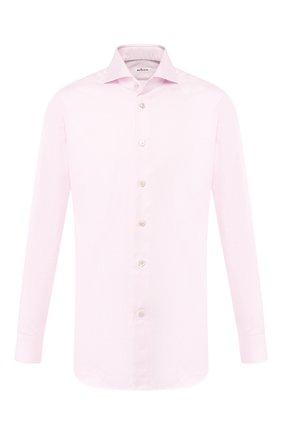 Мужская хлопковая сорочка KITON светло-розового цвета, арт. UCCH0708503 | Фото 1