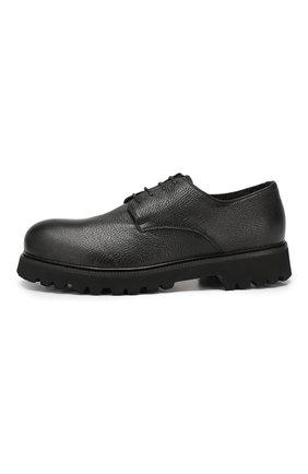 Мужские кожаные ботинки ROCCO P. черного цвета, арт. 9013/R0CK DEER | Фото 3
