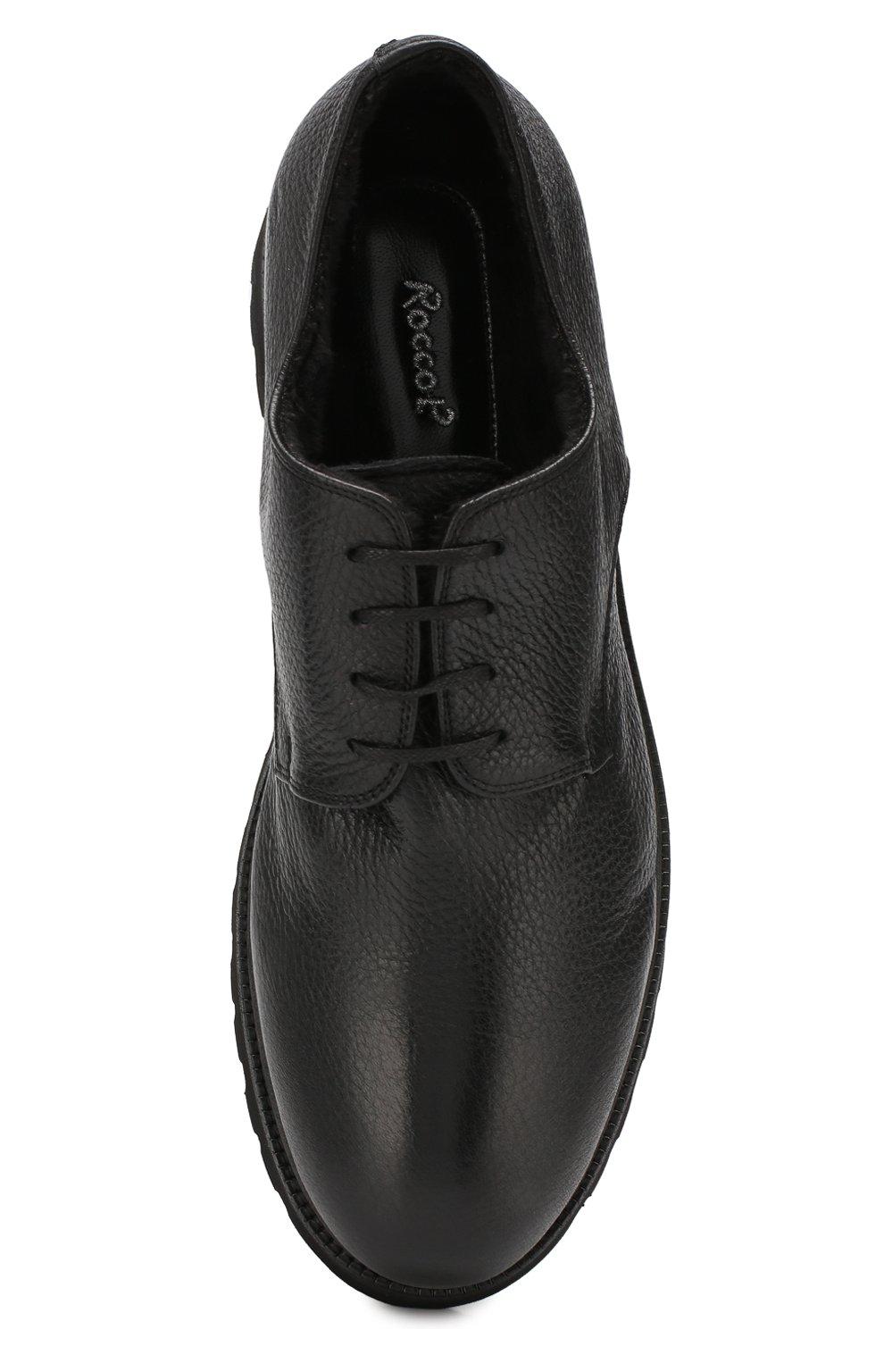 Мужские кожаные ботинки ROCCO P. черного цвета, арт. 9013/R0CK DEER | Фото 5