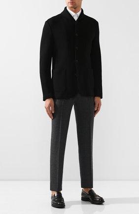 Мужской шерстяной пиджак GIORGIO ARMANI черного цвета, арт. 9SGGG077/J002M   Фото 2