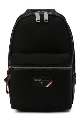 Мужской текстильный рюкзак fuston BALLY черного цвета, арт. FUST0N/00 | Фото 1 (Ремень/цепочка: На ремешке; Статус проверки: Проверено, Проверена категория; Материал: Текстиль)