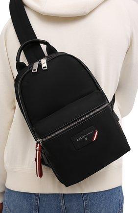 Мужской текстильный рюкзак fuston BALLY черного цвета, арт. FUST0N/00 | Фото 2 (Ремень/цепочка: На ремешке; Статус проверки: Проверено, Проверена категория; Материал: Текстиль)