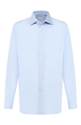 Мужская хлопковая сорочка BRIONI светло-голубого цвета, арт. RCL42Q/PZ023 | Фото 1