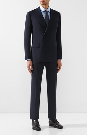 Мужская хлопковая сорочка BRIONI светло-голубого цвета, арт. RCL42Q/PZ023 | Фото 2