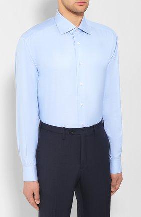 Мужская хлопковая сорочка BRIONI светло-голубого цвета, арт. RCL42Q/PZ023 | Фото 3