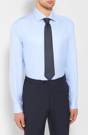 Мужская хлопковая сорочка BRIONI светло-голубого цвета, арт. RCL42Q/PZ023 | Фото 4