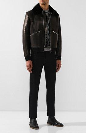 Мужские кожаные челси nino SAINT LAURENT черного цвета, арт. 588727/1FT00 | Фото 2