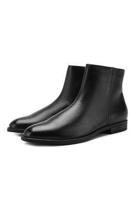 Мужские кожаные сапоги BOSS черного цвета, арт. 50418079 | Фото 1