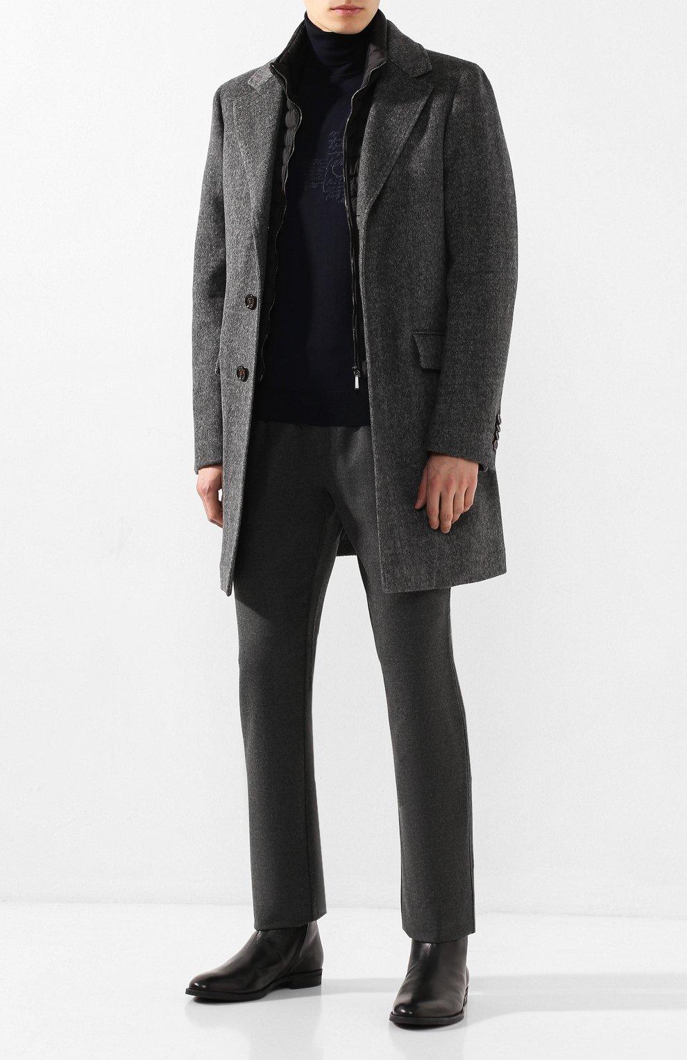 Мужские кожаные сапоги BOSS черного цвета, арт. 50418079   Фото 2