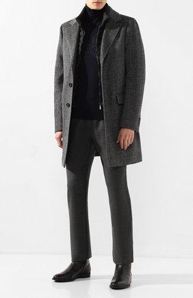 Мужские кожаные сапоги BOSS черного цвета, арт. 50418079 | Фото 2