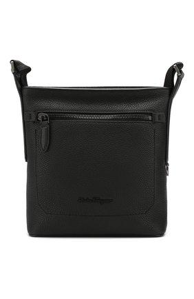 Мужская кожаная сумка-планшет SALVATORE FERRAGAMO черного цвета, арт. Z-0685034   Фото 1 (Материал: Натуральная кожа; Ремень/цепочка: На ремешке; Статус проверки: Проверена категория)