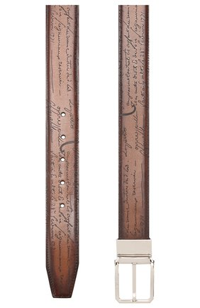 Мужской кожаный ремень BERLUTI коричневого цвета, арт. C0028-002 | Фото 2