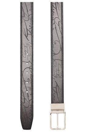 Мужской кожаный ремень BERLUTI черного цвета, арт. C0028-005 | Фото 2