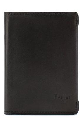 Мужской кожаное портмоне BERLUTI черного цвета, арт. N152796 | Фото 1