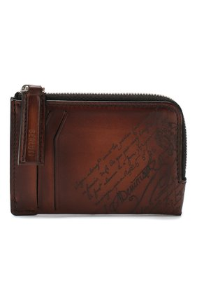 Мужской кожаный футляр для кредитных карт BERLUTI коричневого цвета, арт. N185066 | Фото 1
