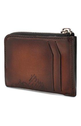 Мужской кожаный футляр для кредитных карт BERLUTI коричневого цвета, арт. N185066 | Фото 2