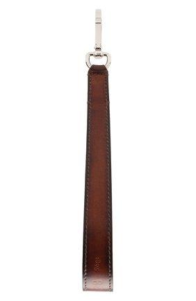 Мужской кожаный ремень для сумки BERLUTI светло-коричневого цвета, арт. X190106 | Фото 2