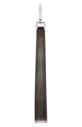 Мужской кожаный ремень для сумки BERLUTI коричневого цвета, арт. X190107 | Фото 2
