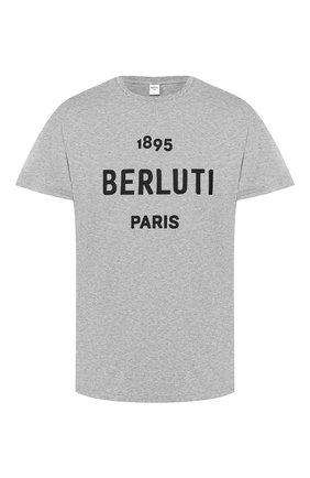 Мужская хлопковая футболка BERLUTI серого цвета, арт. R15JRS29-006   Фото 1