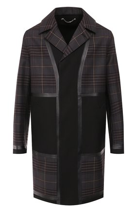 Мужской шерстяное пальто BERLUTI черного цвета, арт. R160CU61-001 | Фото 1