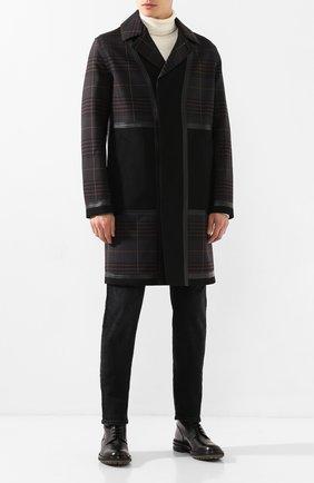 Мужской шерстяное пальто BERLUTI черного цвета, арт. R160CU61-001 | Фото 2