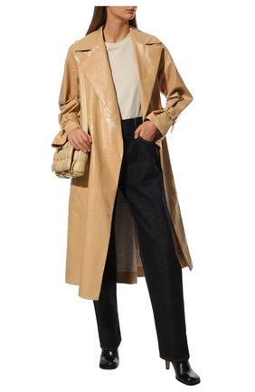 Женские кожаные ботильоны BOTTEGA VENETA черного цвета, арт. 578331/VBPJ0 | Фото 2