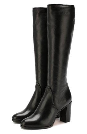 Женские кожаные сапоги SANTONI черного цвета, арт. WS0G57595HI1AGRPN01 | Фото 1
