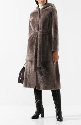Женские кожаные сапоги SANTONI черного цвета, арт. WS0G57595HI1AGRPN01 | Фото 2