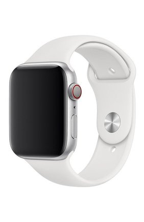 Ремешок для apple watch 44mm sport band APPLE  белого цвета, арт. MTPK2ZM/A | Фото 1