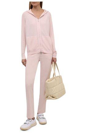 Женские кашемировые брюки LORO PIANA розового цвета, арт. FAI1960   Фото 2