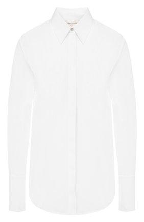 Женская хлопковая рубашка VICTORIA, VICTORIA BECKHAM белого цвета, арт. SHVV 171A PAW19 C0TT0N SHIRTING | Фото 1