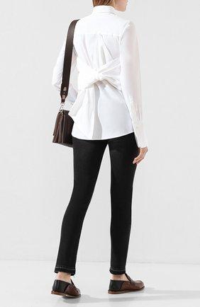 Женская хлопковая рубашка VICTORIA, VICTORIA BECKHAM белого цвета, арт. SHVV 171A PAW19 C0TT0N SHIRTING | Фото 2