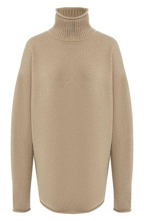 Женский кашемировый свитер EXTREME CASHMERE темно-бежевого цвета, арт. 100/HIPPY | Фото 1