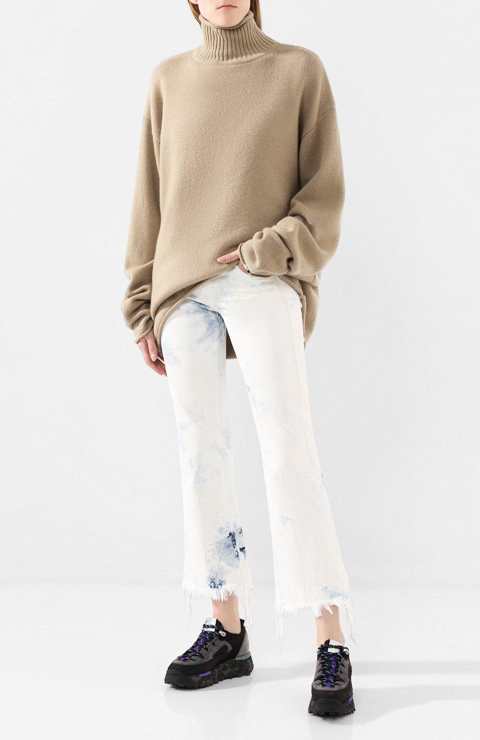 Женский кашемировый свитер EXTREME CASHMERE темно-бежевого цвета, арт. 100/HIPPY | Фото 2