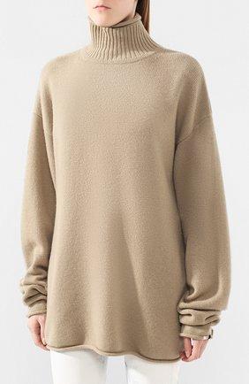 Женский кашемировый свитер EXTREME CASHMERE темно-бежевого цвета, арт. 100/HIPPY | Фото 3