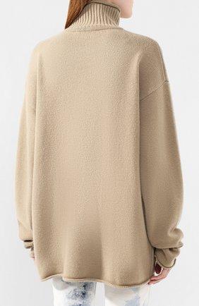 Женский кашемировый свитер EXTREME CASHMERE темно-бежевого цвета, арт. 100/HIPPY | Фото 4