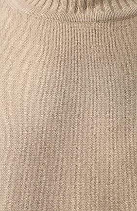 Женский кашемировый свитер EXTREME CASHMERE темно-бежевого цвета, арт. 100/HIPPY | Фото 5