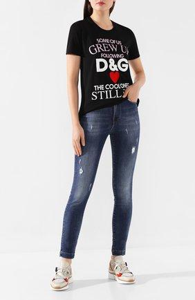 Женские джинсы DOLCE & GABBANA синего цвета, арт. FTAH6D/G898Q | Фото 2