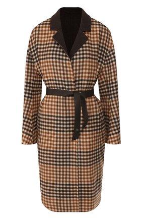 Женское двустороннее пальто LORO PIANA коричневого цвета, арт. FAI7999 | Фото 1