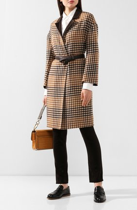 Женское двустороннее пальто LORO PIANA коричневого цвета, арт. FAI7999 | Фото 2