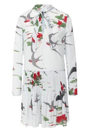 Женское платье с принтом REDVALENTINO бирюзового цвета, арт. SR0VAF80/4J6 | Фото 1