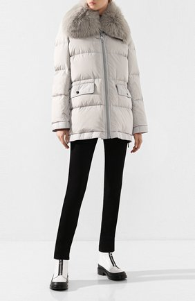Женский пуховая куртка YS ARMY PARIS серого цвета, арт. 9WFV05676F62W | Фото 2