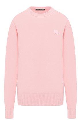 Женская шерстяной свитер ACNE STUDIOS розового цвета, арт. C60007/W | Фото 1