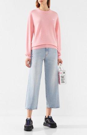 Женская шерстяной свитер ACNE STUDIOS розового цвета, арт. C60007/W | Фото 2